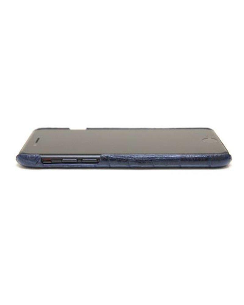 XO XO luxury croco Blauw iPhone 8