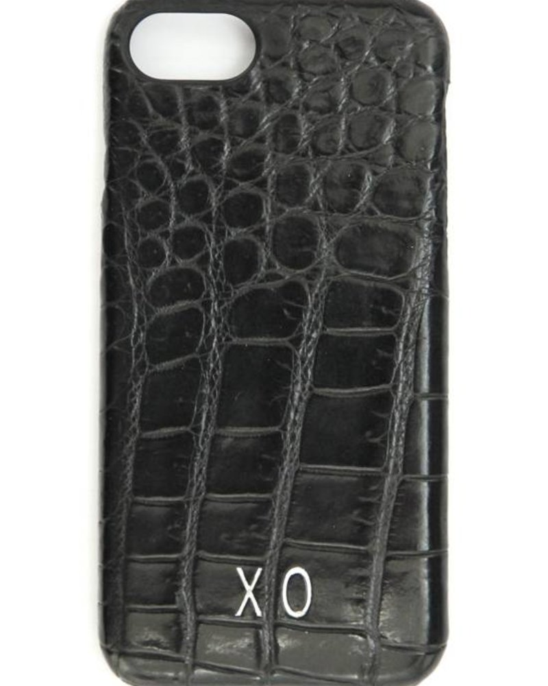 XO XO luxury croco Zwart iPhone 8