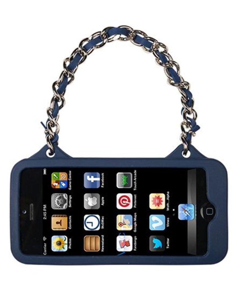 BYBI Lifestyle Fashion Brand Love Donker Blauw telefoontasje iPhone 5S/5