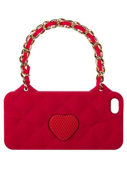 BYBI Lifestyle Fashion Brand Love Rood telefoontasje iPhone SE