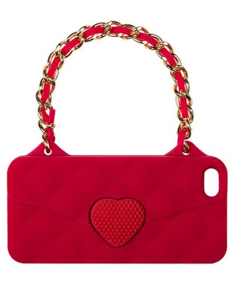 BYBI Lifestyle Fashion Brand Love Rood telefoontasje iPhone 4S/4