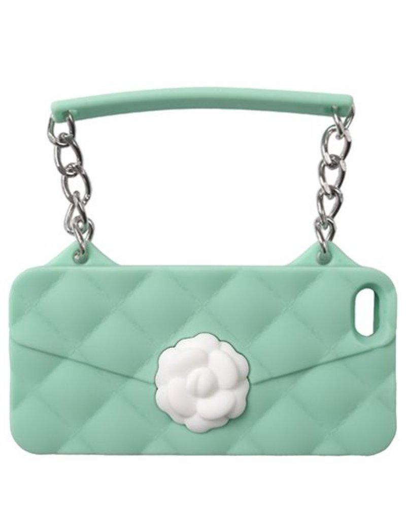 BYBI Lifestyle Fashion Brand Flower Mint Groen telefoontasje iPhone 4S/4