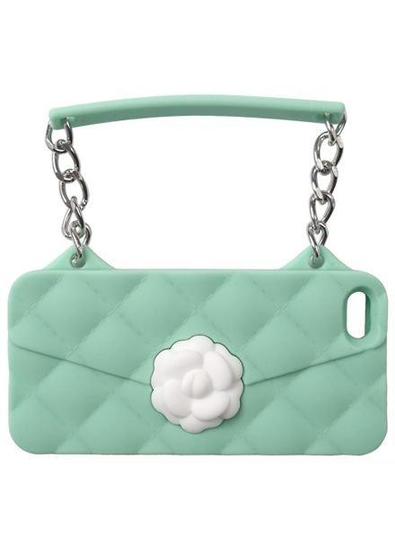 BYBI Lifestyle Fashion Brand Flower Mint Groen telefoontasje iPhone SE