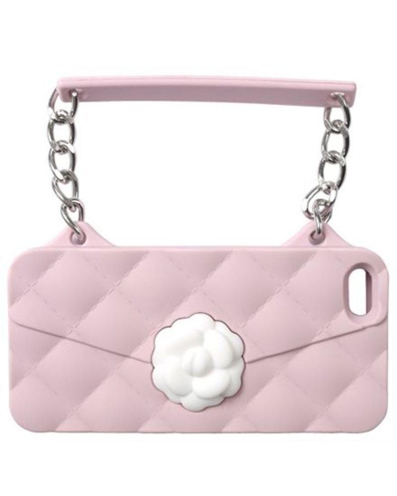 BYBI Lifestyle Fashion Brand Flower Roze telefoontasje iPhone 5S/5
