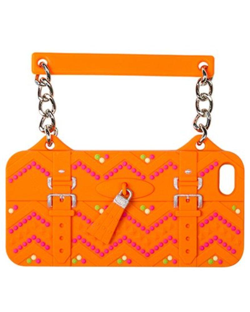 BYBI Lifestyle Fashion Brand Ibiza Oranje telefoontasje iPhone SE