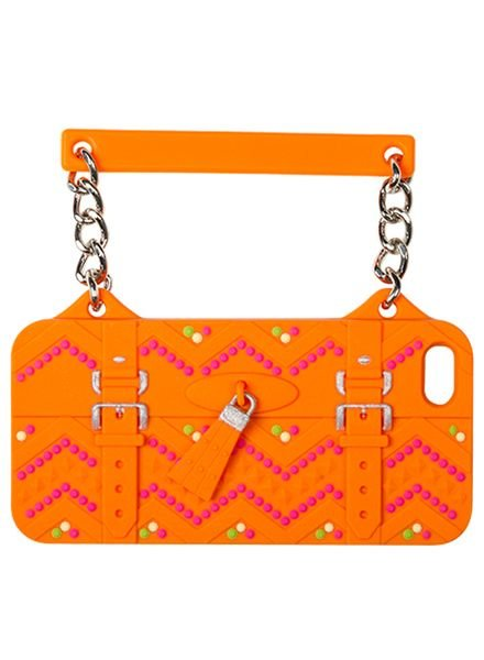 BYBI Lifestyle Fashion Brand Ibiza Oranje telefoontasje iPhone 4S/4