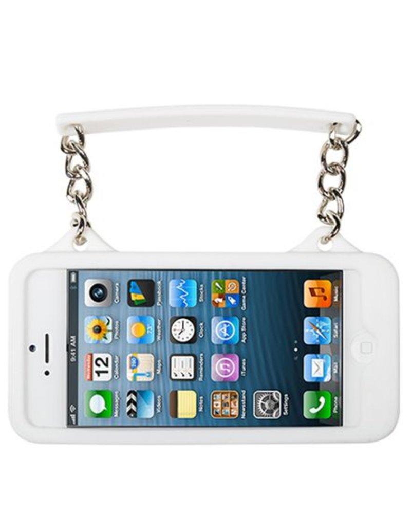 BYBI Lifestyle Fashion Brand Ibiza Zwart/Wit telefoontasje iPhone SE