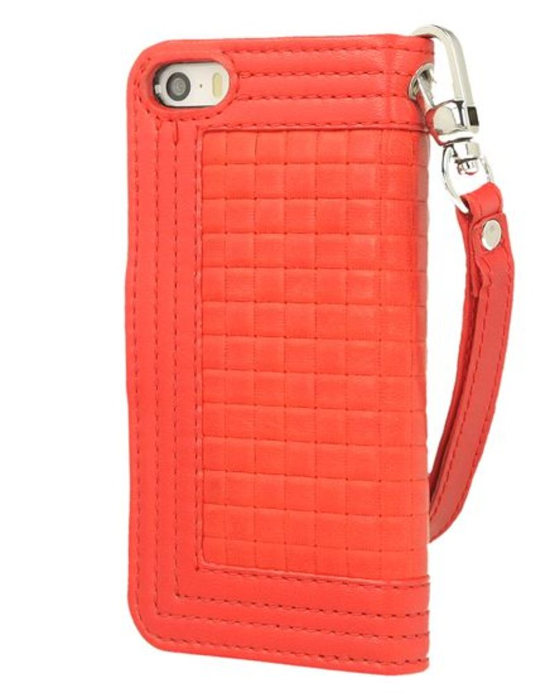 BYBI Lifestyle Fashion Brand Memorable Milano Hoesje Rood iPhone SE