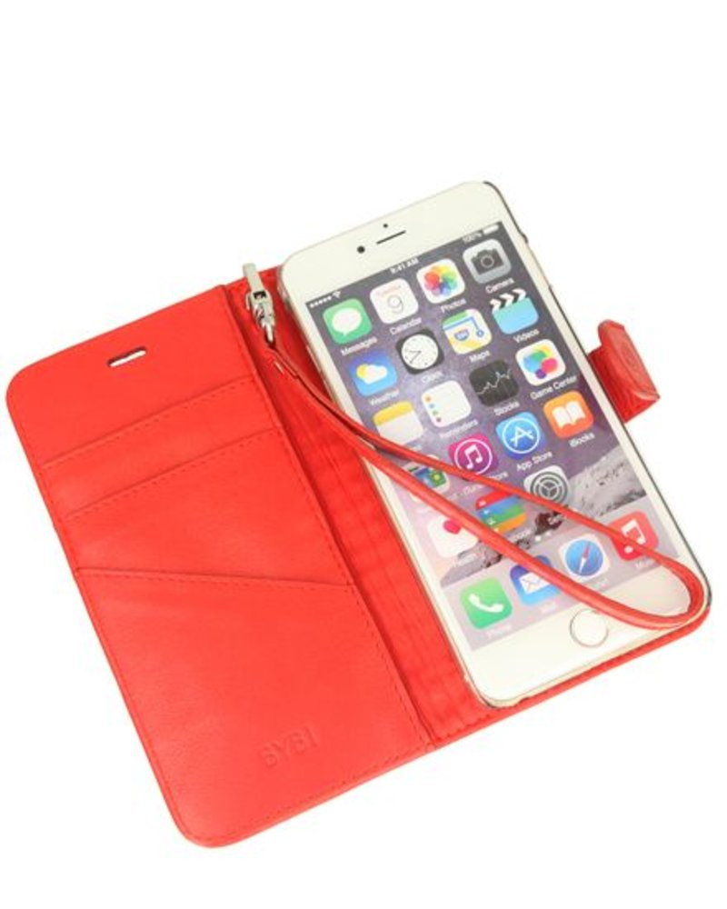 BYBI Lifestyle Fashion Brand Memorable Milano Hoesje Rood iPhone 6S/6 Plus