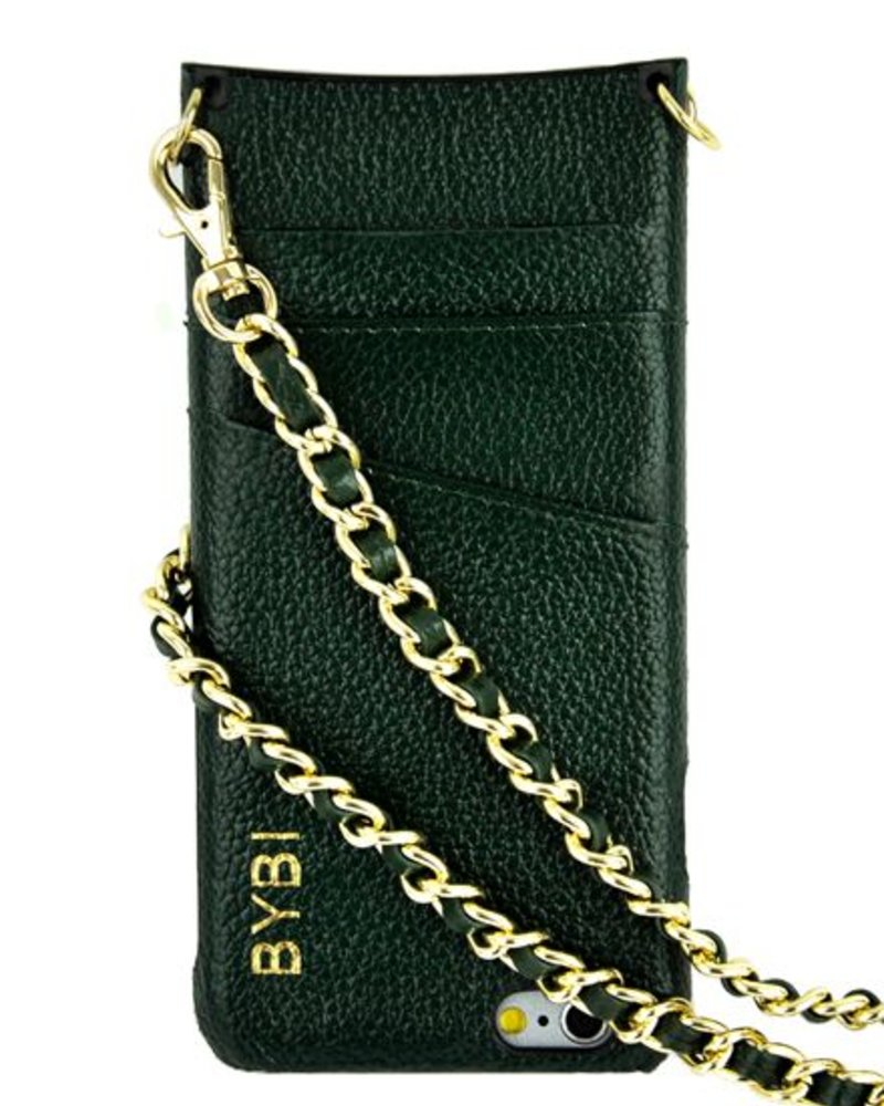 BYBI Lifestyle Fashion Brand I Am Stylish Hoesje Groen Wrapped in Leer iPhone 6S/6