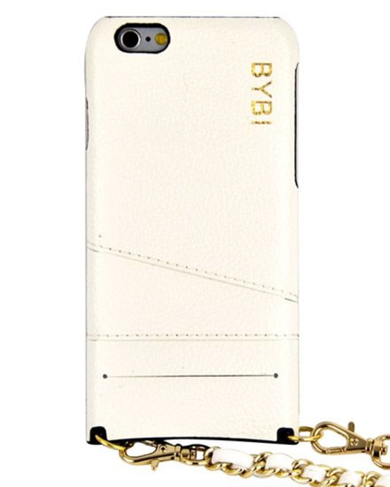 BYBI Lifestyle Fashion Brand I Am Stylish Hoesje Wit Wrapped in Leer iPhone 6S/6