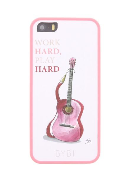 BYBI Lifestyle Fashion Brand Work Hard, Play Hard iPhone SE