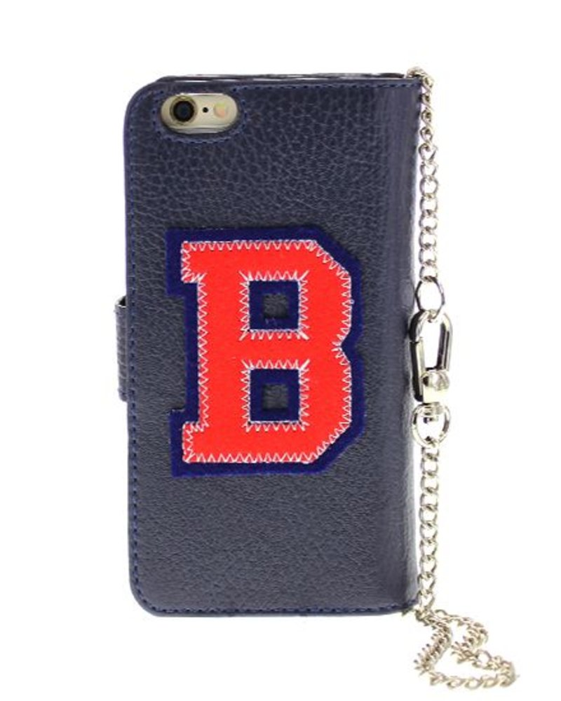 BYBI Lifestyle Fashion Brand Patch-B Donker Blauw iPhone 6S/6
