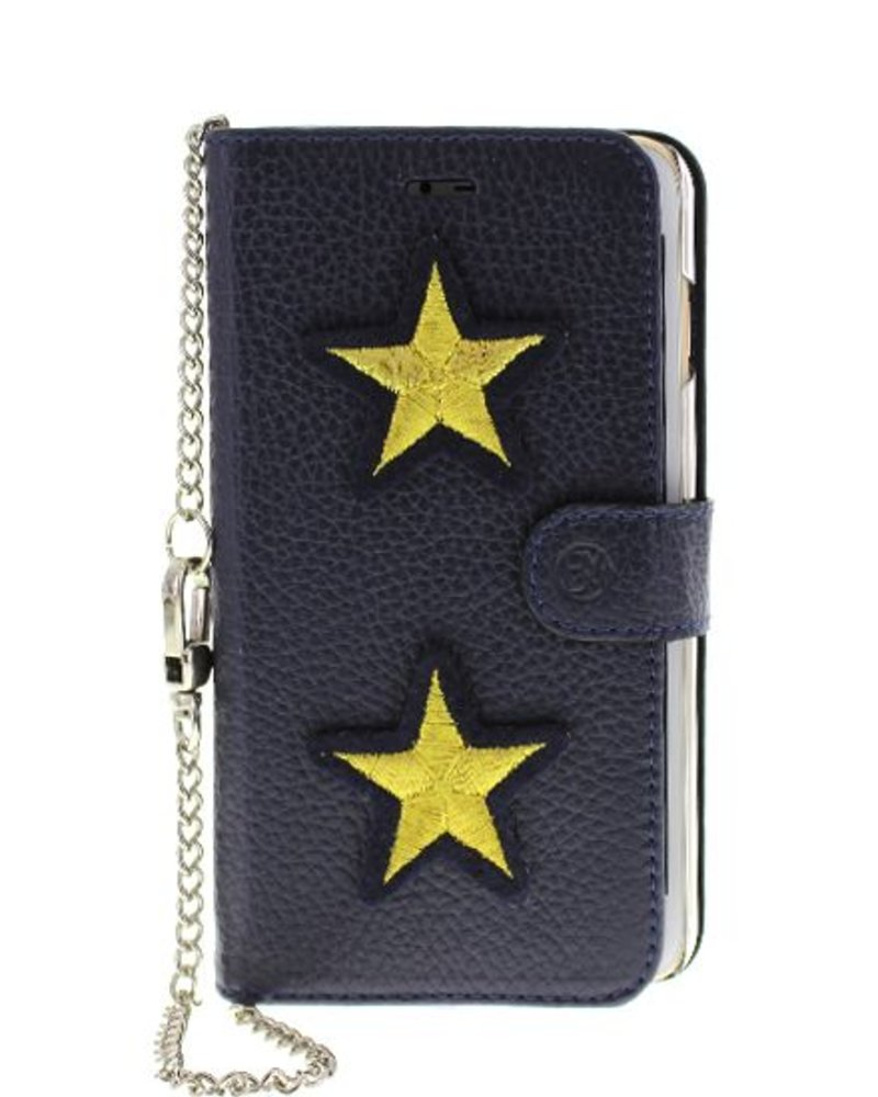 BYBI Lifestyle Fashion Brand  Patch Stars Blauw iPhone 6S/6 Plus
