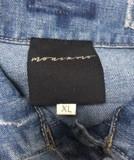 Jeansvest Ananda borduurwerk  multicolor zwart-goud XL