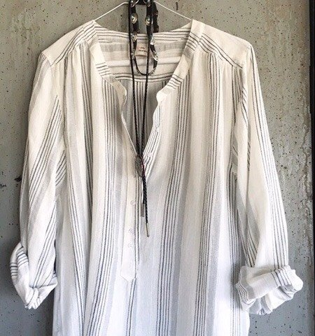 Shirt/blouse Jules striped grey/black