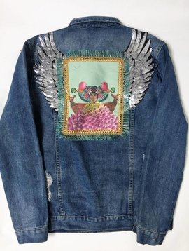 Jacket jeans vintage wings XL