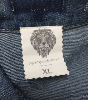 Jacket jeans vintage wings Monikmo XL