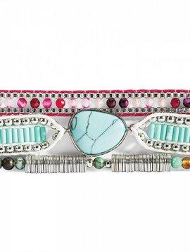 Bracelet femme Annie-Mini turquoise/violet