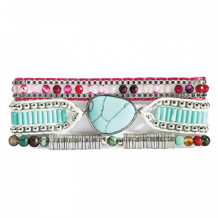 Armband Annie-Mini turquoise/violet