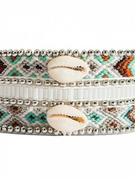 Bracelet femme Mona-twin perles/coquillages