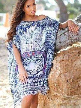 Tuniek veer leeuw blauw