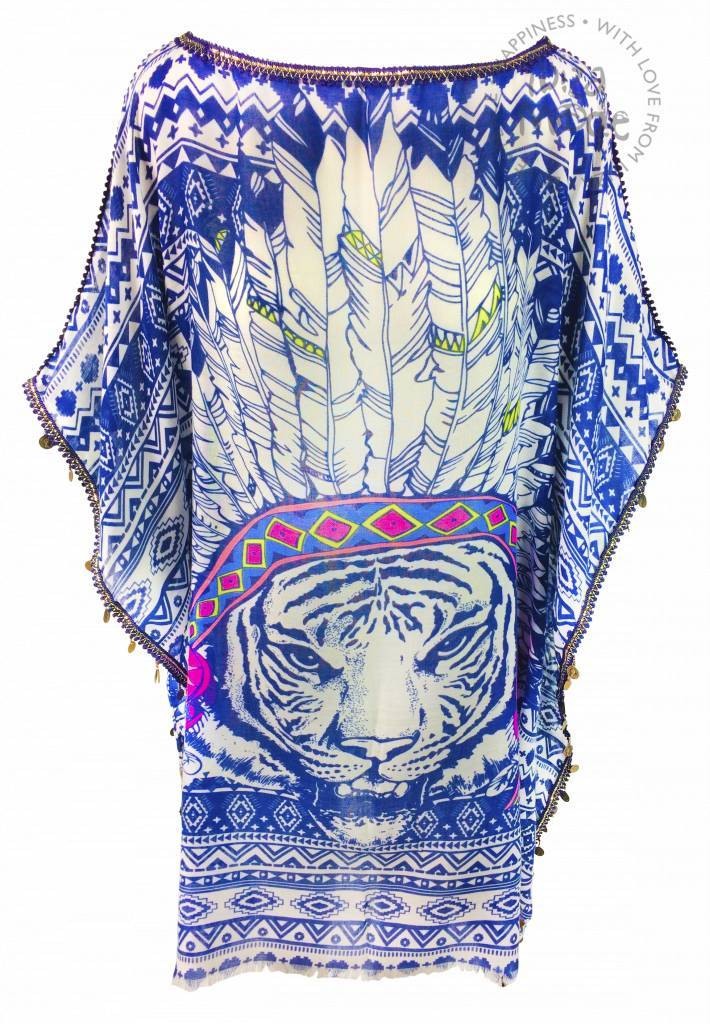 Tuniek veer leeuw blauw halflang