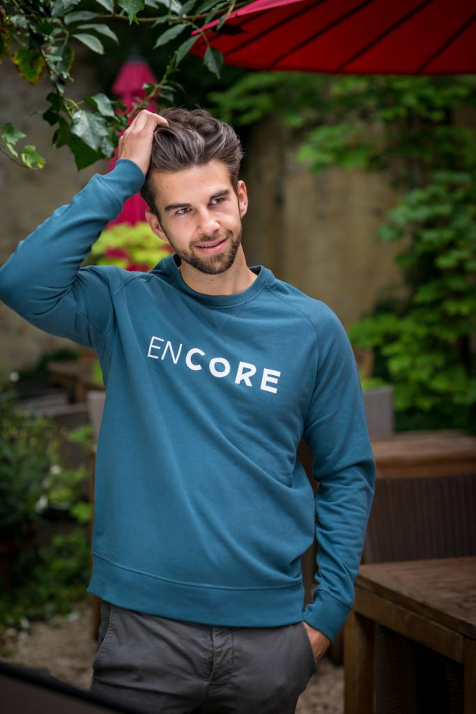 Miss Milla EN CORE sweat men blauw/groen