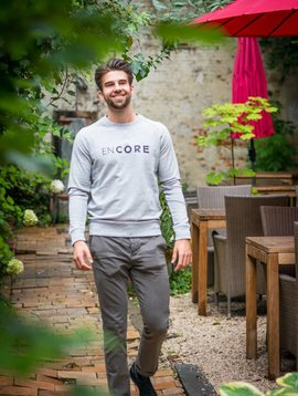 Miss Milla EN CORE sweat men heather grey