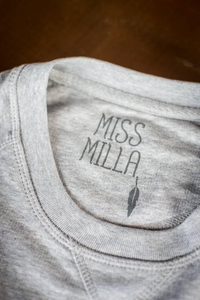 Miss Milla YOGA ROCKS  tank top zwart  print goud