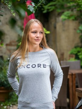 Miss Milla EN CORE sweat women grijs print zwart