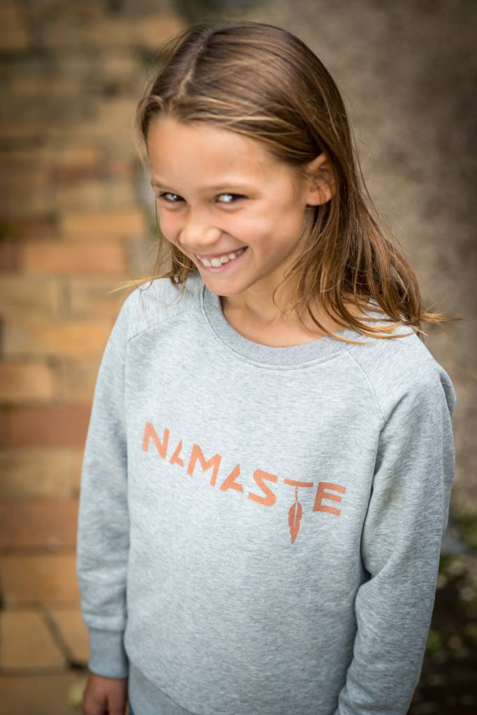 Miss Milla NAMASTE sweat kids heather grey
