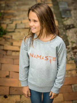 Miss Milla NAMASTE sweat kids heather grey (lichtgrijs)