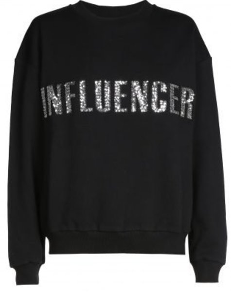 Sweater – INFLUENCER black paillet