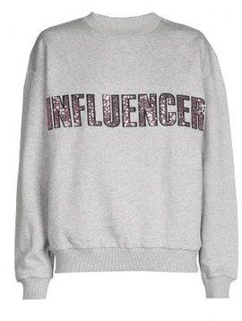 Sweater – INFLUENCER Grey paillet