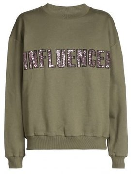 Sweater – INFLUENCER kaki paillet