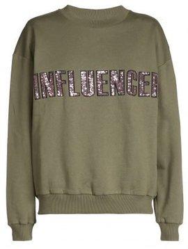 Sweater – INFLUENCER kaki paillet