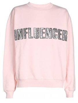 Sweater – INFLUENCER pink paillet