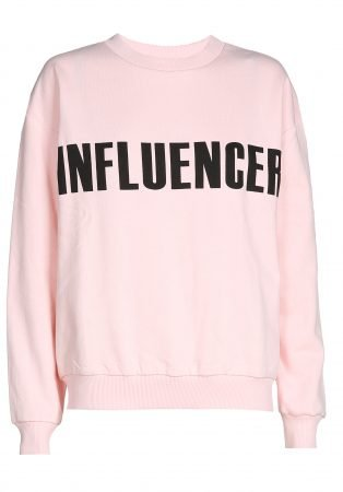 Sweater – INFLUENCER pink print basic