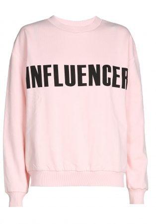 Sweater – INFLUENCER pink print