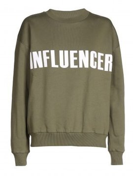 Sweater – INFLUENCER khaki- basic