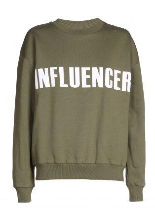 Sweater – INFLUENCER kaki basic