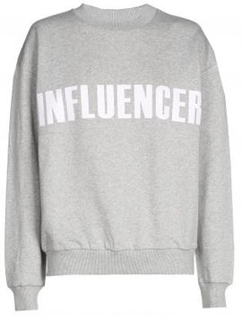 Sweater – INFLUENCER gris basic