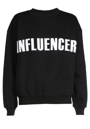 Sweater – INFLUENCER black print basic