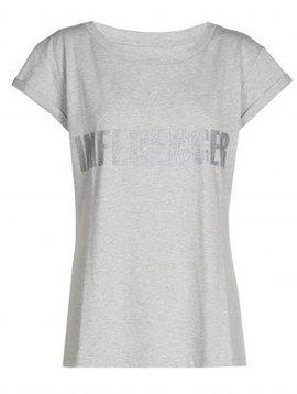 T-shirt– INFLUENCER grey print silver glitter