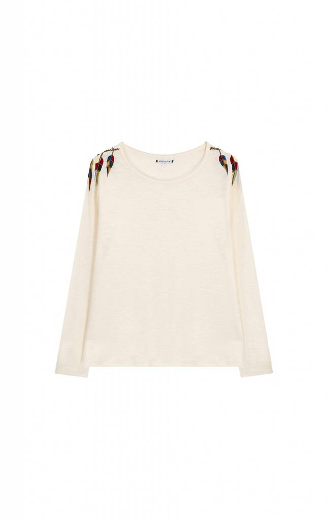 T-shirt Ono off white embroidery