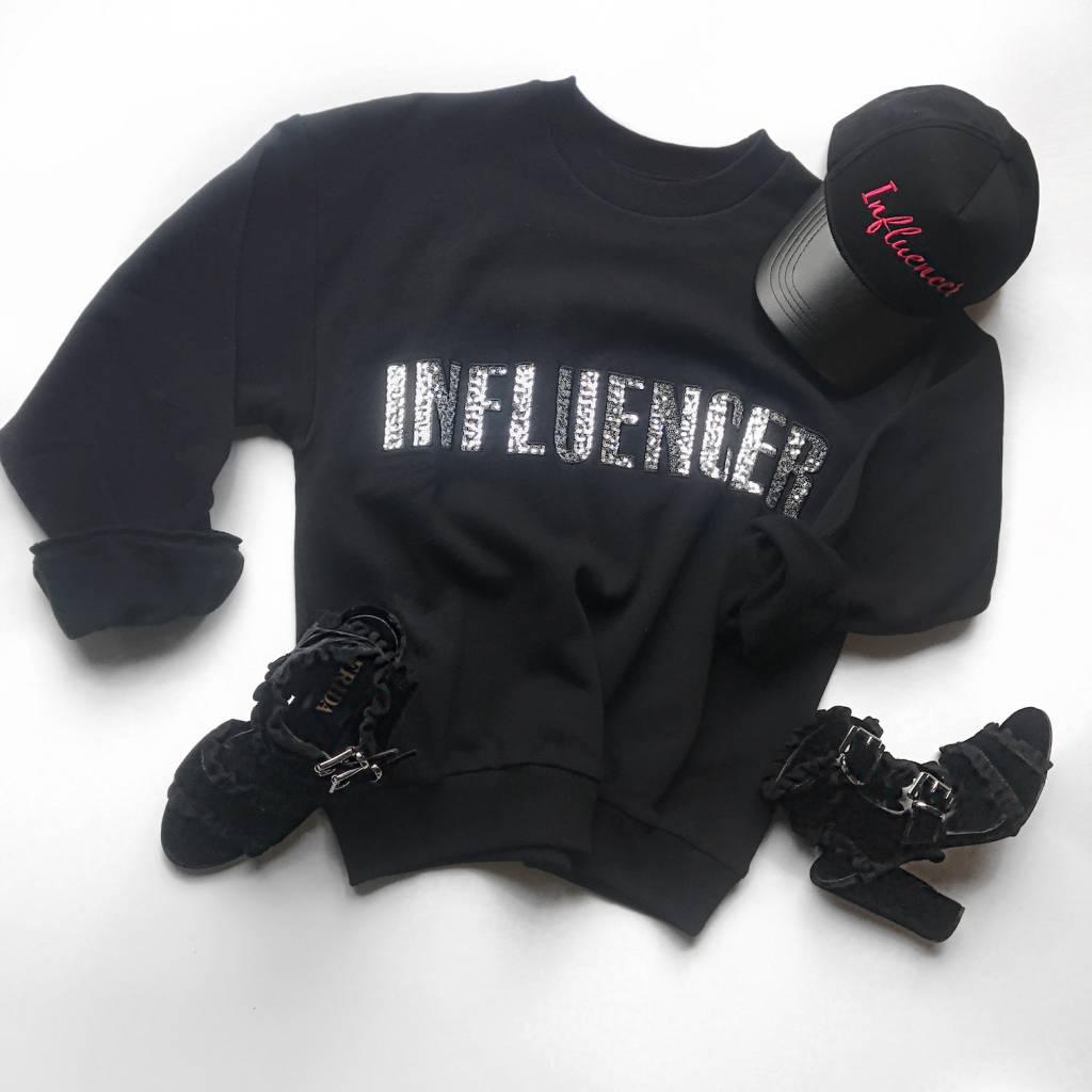 Sweater – INFLUENCER Black pailet