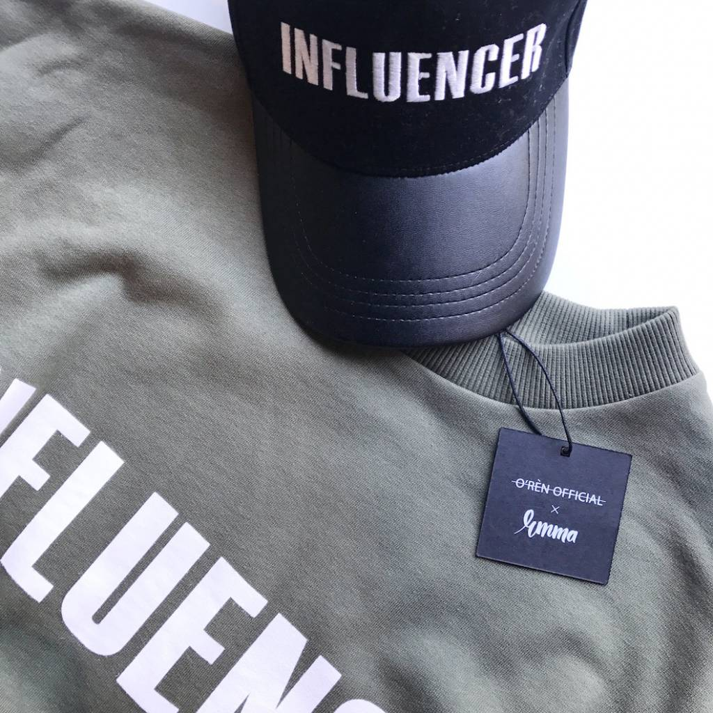 Sweater – INFLUENCER khaki- basic