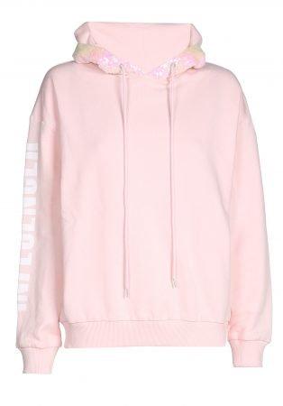 Hoodie  – INFLUENCER pink sequin