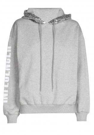 Hoodie  – INFLUENCER  GREY SEQUIN